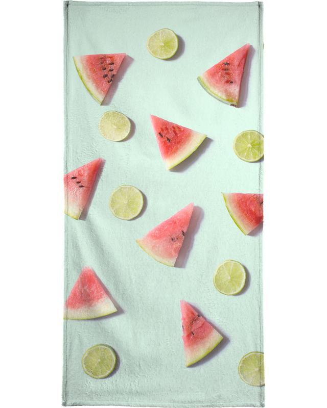 Lemons, Watermelons, Angurie II Bath Towel
