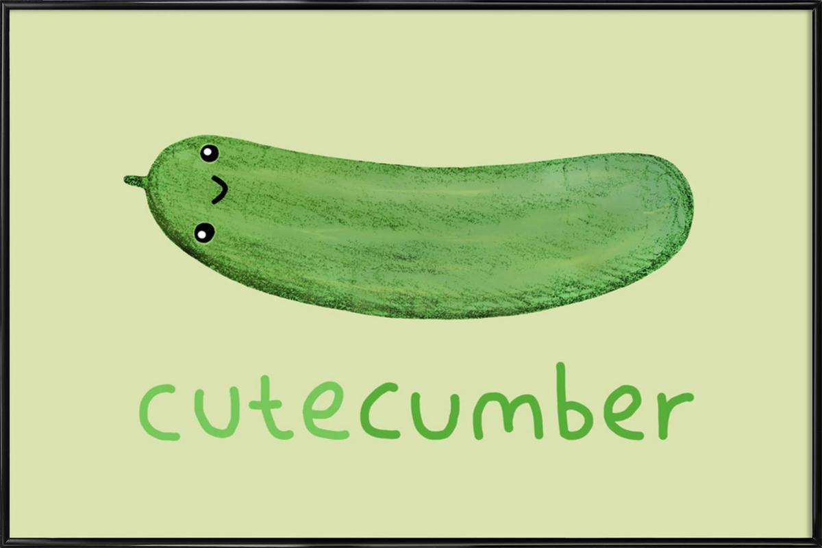 Cutecumber Framed Poster