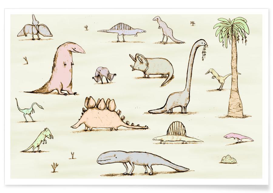Dinosaurussen, Kunst voor kinderen, Dinos poster