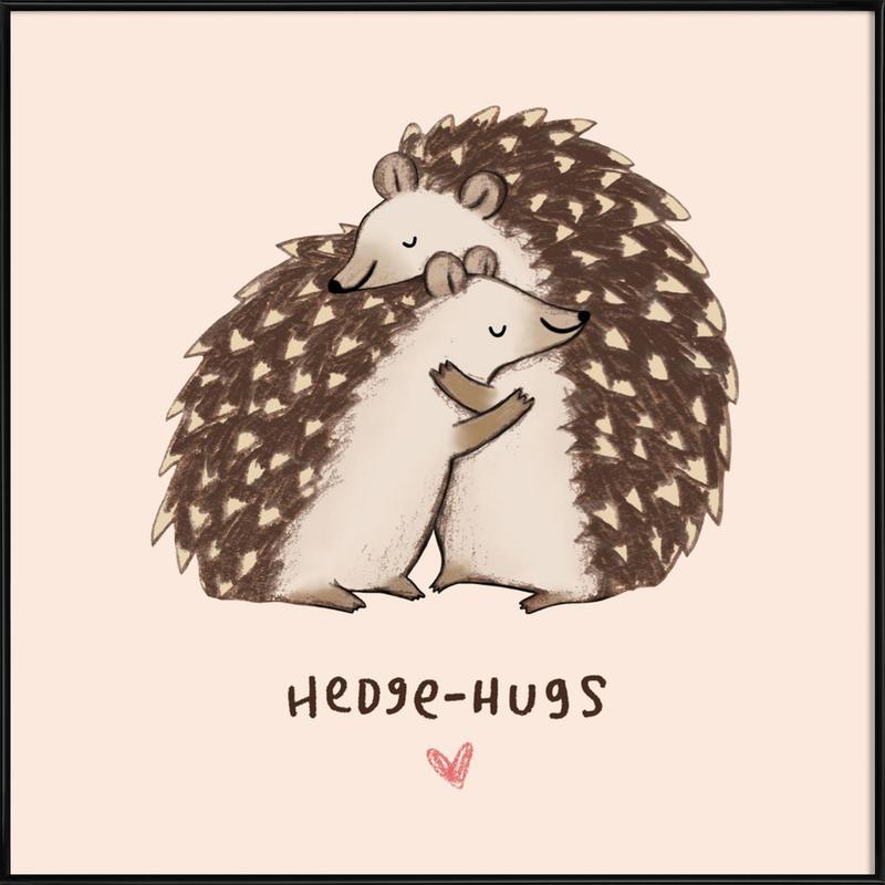 Hedgehugs ingelijste poster
