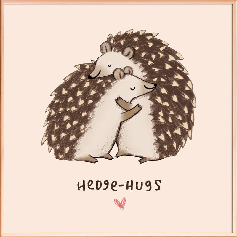 Hedgehugs Poster in Aluminium Frame