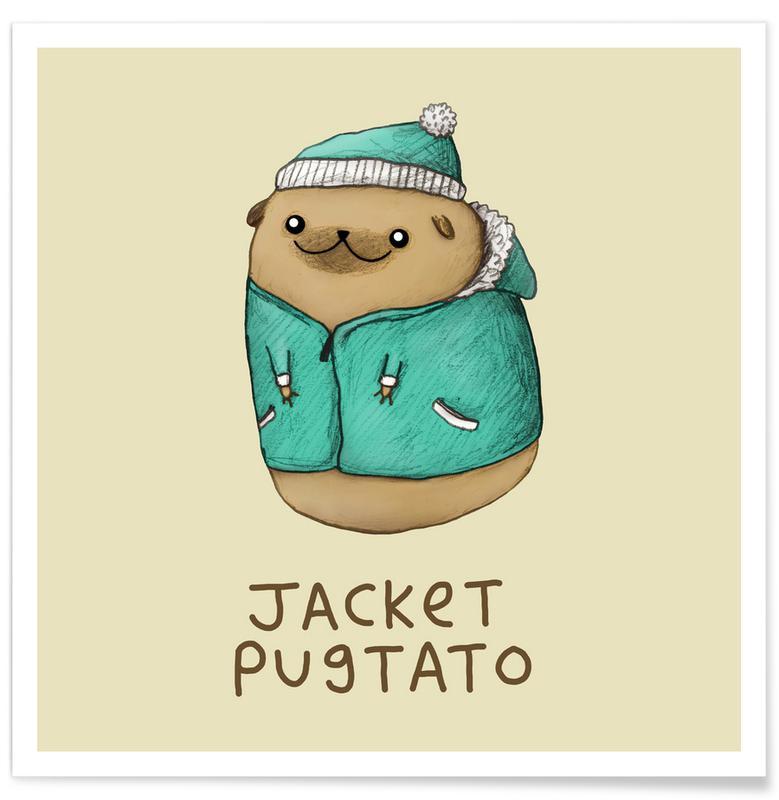 Hunde, Humor, Jacket Pugtato Plakat