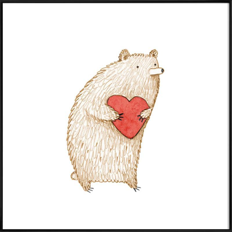 Bear With Heart affiche encadrée