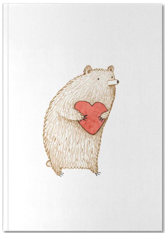 Harten, Beren, Kunst voor kinderen, Bear With Heart Notebook