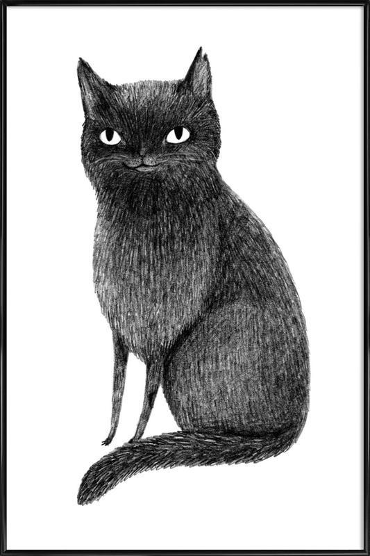 Black Cat Framed Poster