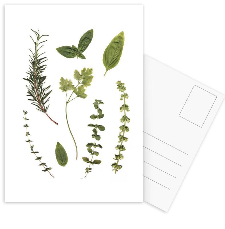 Bladeren en planten, Garden Fresh ansichtkaartenset
