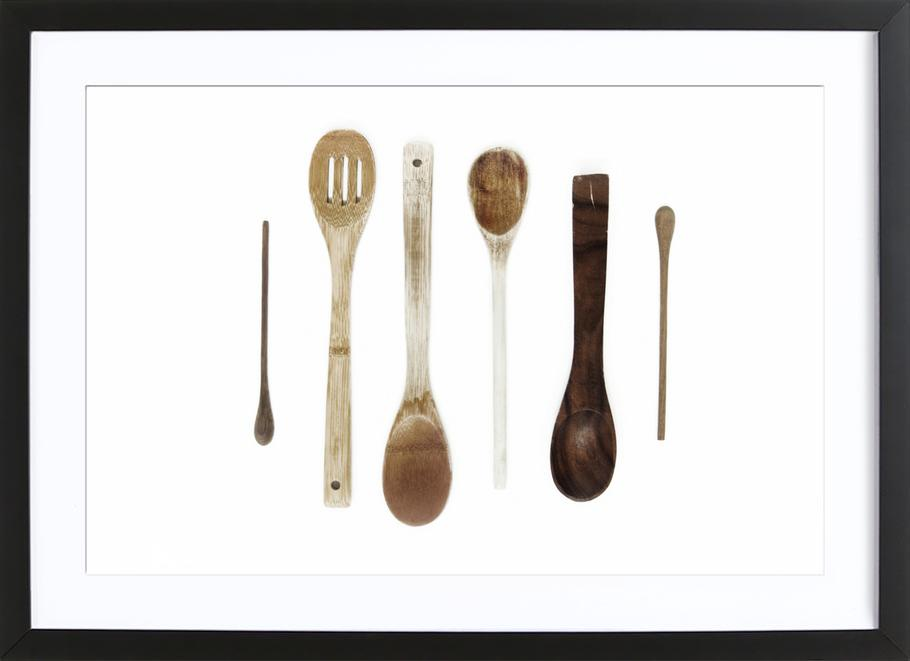 Spoon Collection N1 -Bild mit Holzrahmen