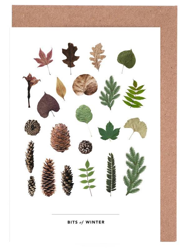 Blätter & Pflanzen, Bits of Winter -Grußkarten-Set