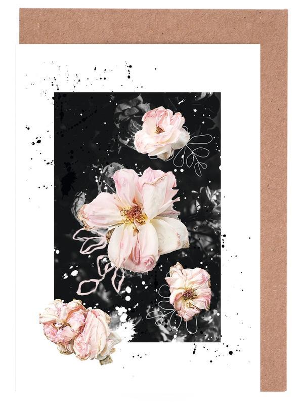 Floral Collage N1 Greeting Card Set