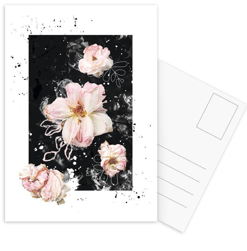 Floral Collage N1 Postcard Set
