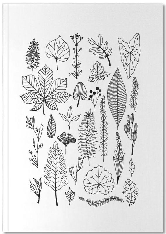 Herbarium Line Drawing Notebook