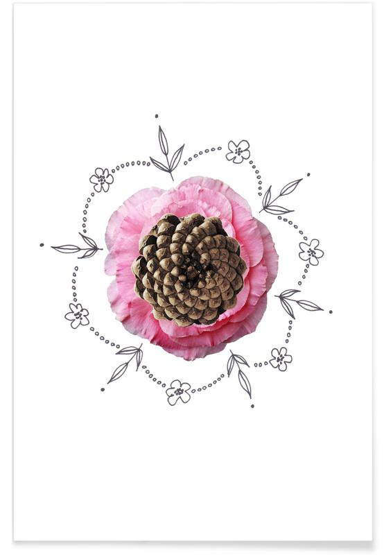 , Pine Cone Collage poster