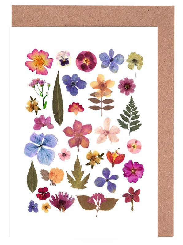 Pressed Flowers 01 Greeting Card Set