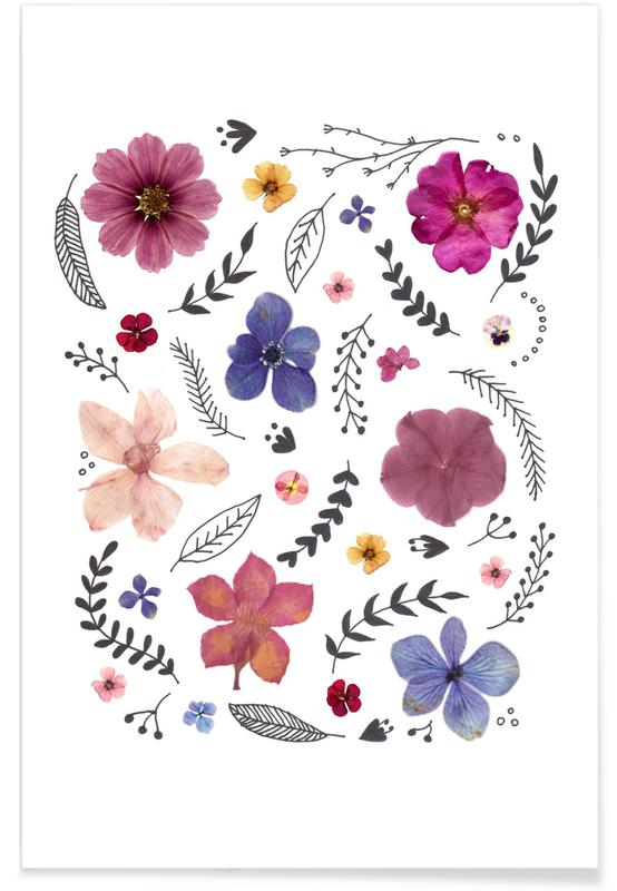 , Pressed Flowers 03 poster