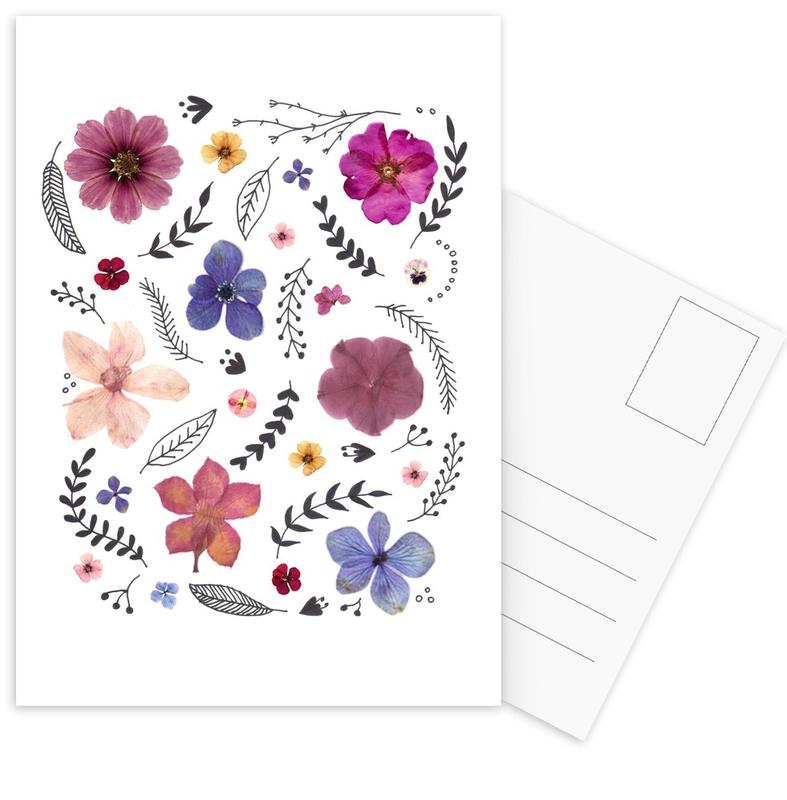 Pressed Flowers 03 -Postkartenset