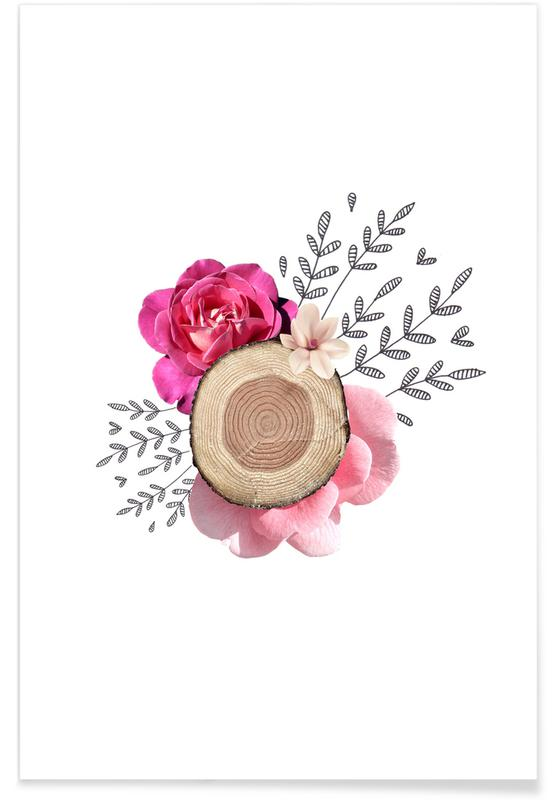, Wood Slice Collage poster