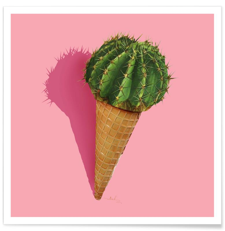 Kaktus, Eiscreme, Caramba Cacti -Poster