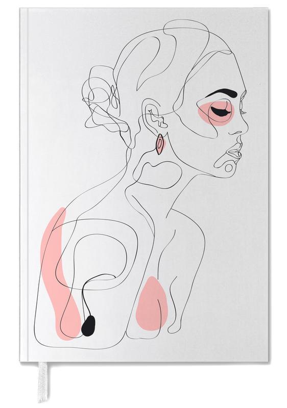Illustrations de mode, Portraits, One Line Girl Part 1 agenda