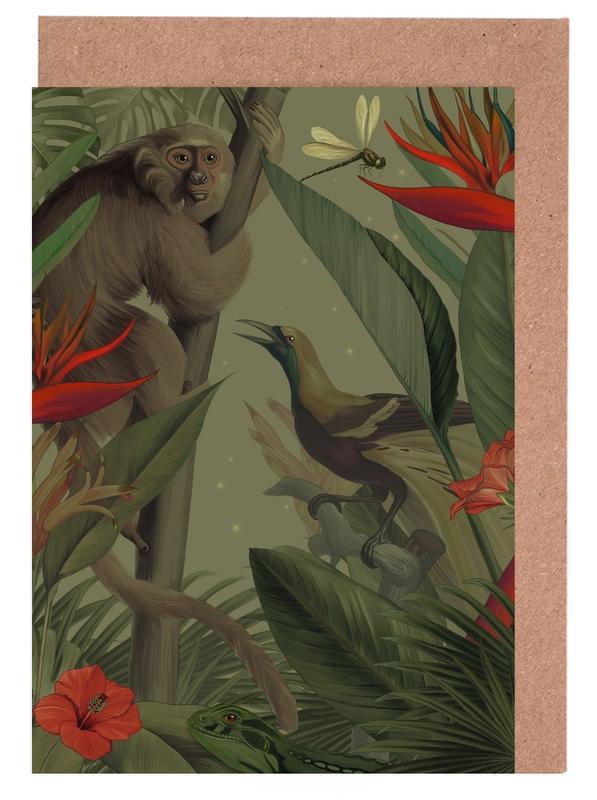 Affen, Blätter & Pflanzen, Welcome To The Jungle -Grußkarten-Set