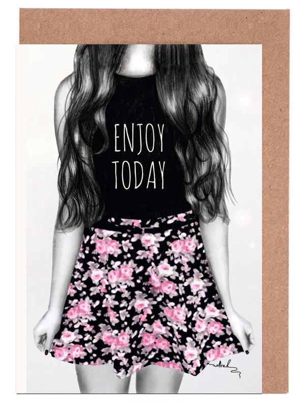 Enjoy Today -Grußkarten-Set