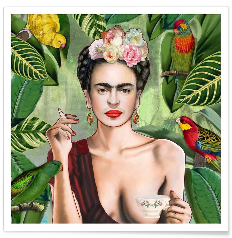 Frida Kahlo, Frida Con Amigos Plakat