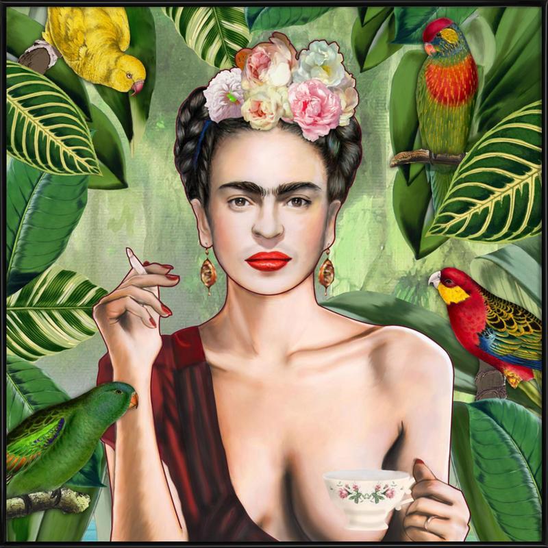 Frida Con Amigos Framed Poster