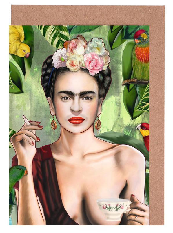 Frida Con Amigos Greeting Card Set