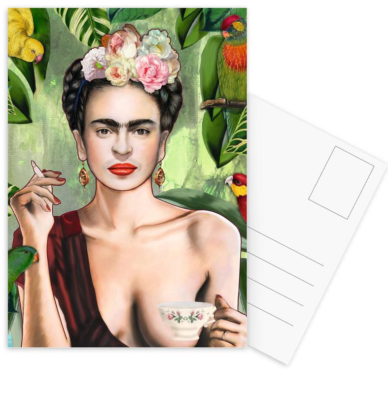 Frida Con Amigos Postcard Set