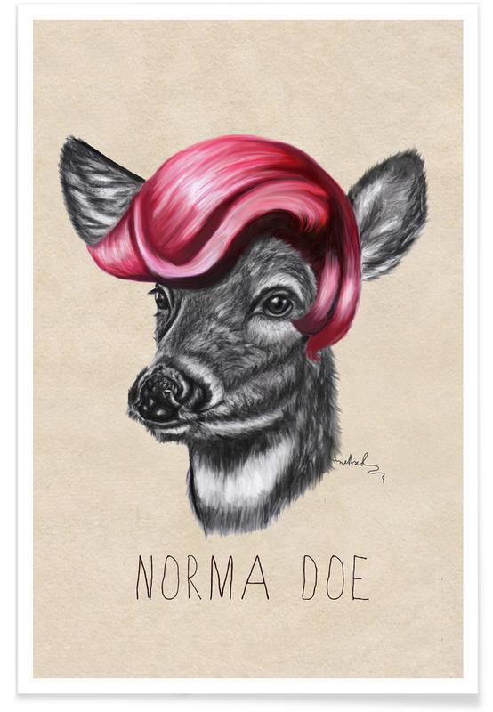 Deer, Norma Doe Poster