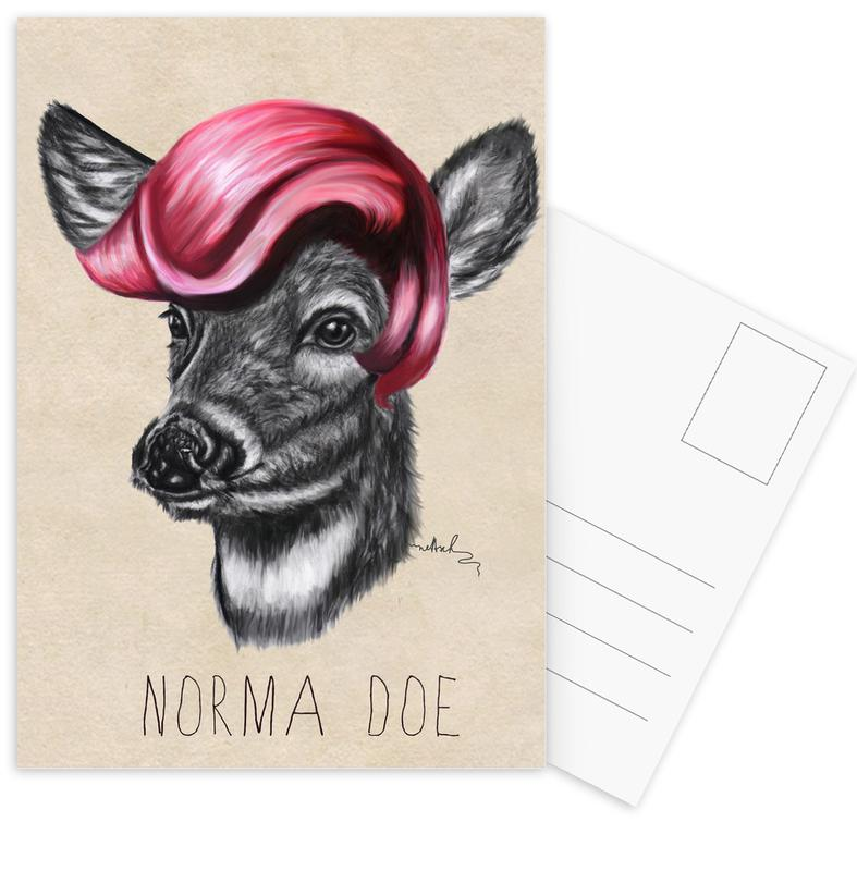 Cerfs, Norma Doe cartes postales