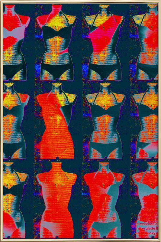 Dress-Stand 02 -Poster im Alurahmen