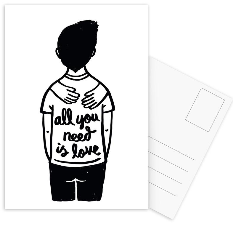 All You Need Is Love (B&W) Postcard Set