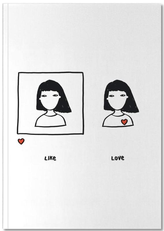 Like vs Love Notebook