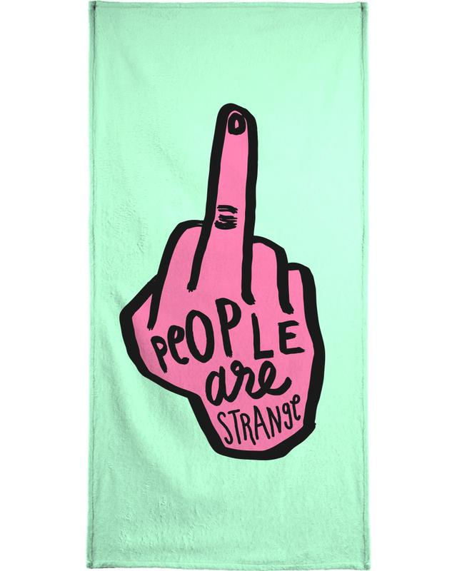 People Are Strange (Colour) Bath Towel