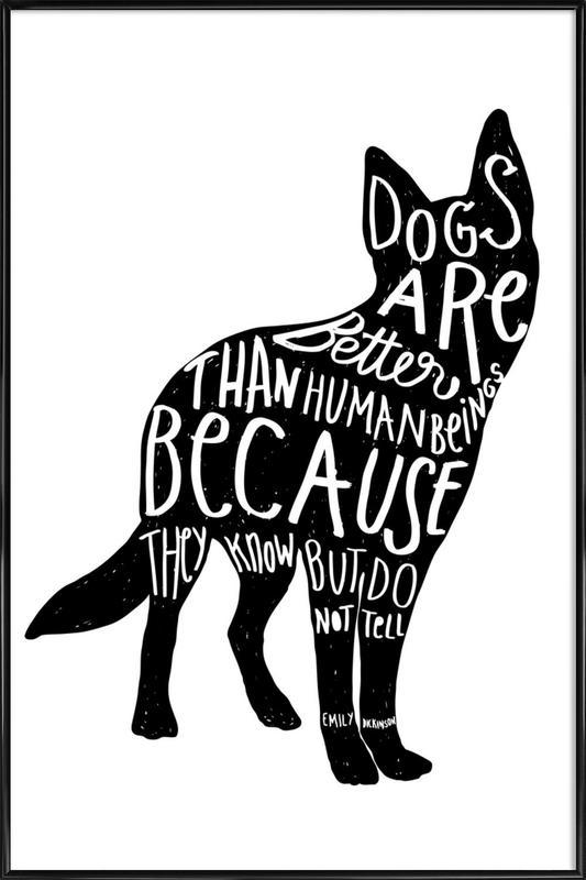Dickinson's Dog affiche encadrée