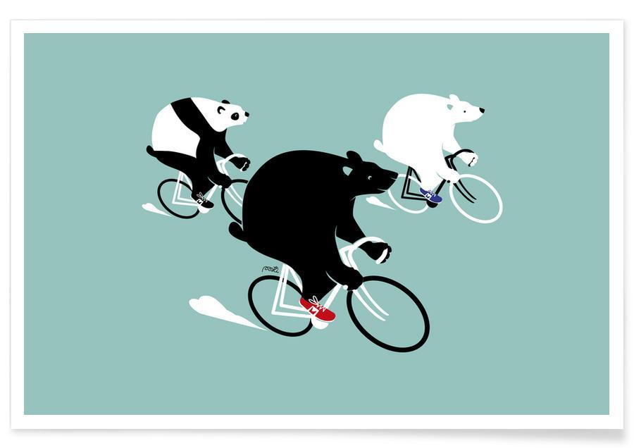 Ours, Art pour enfants, Bears affiche