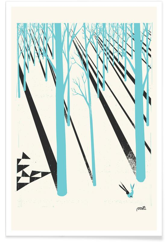 Forests, Retro, Forest 1b Poster