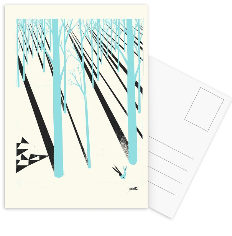 Forests, Retro, Forest 1b Postcard Set