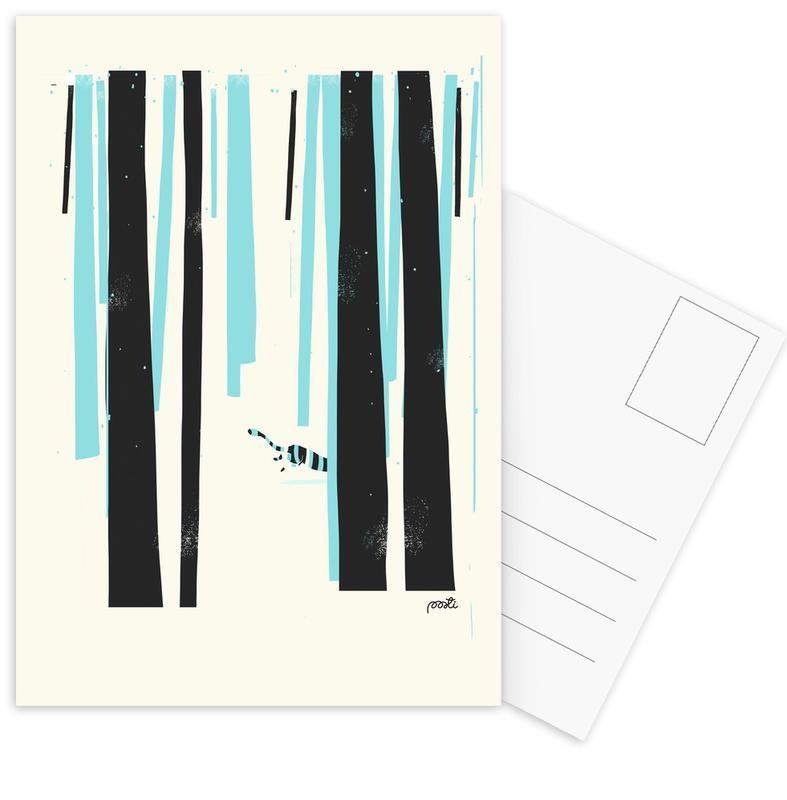 Forest 4 Postcard Set