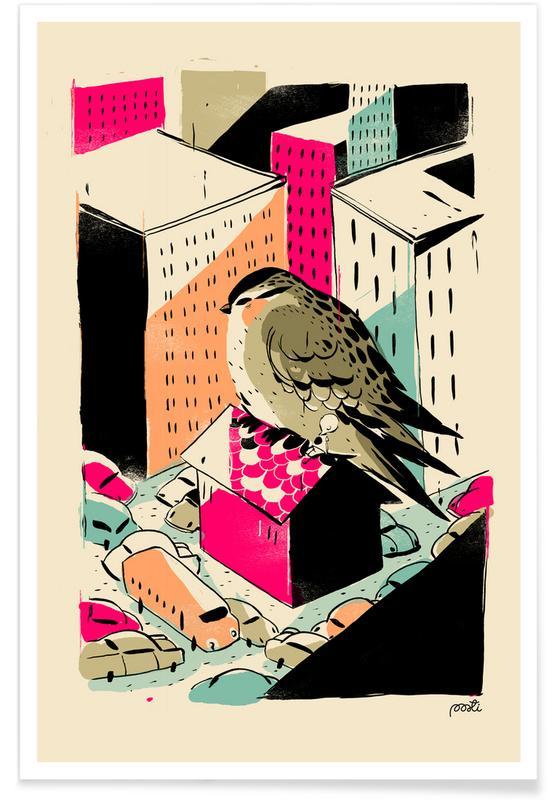 Barnkammar & konst för barn, Giants Birdy Poster