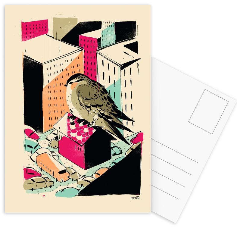Nursery & Art for Kids, Giants Birdy Postcard Set