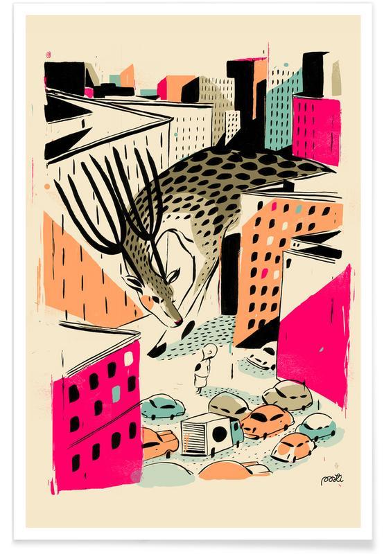 Deer, Nursery & Art for Kids, Giants Deer Poster