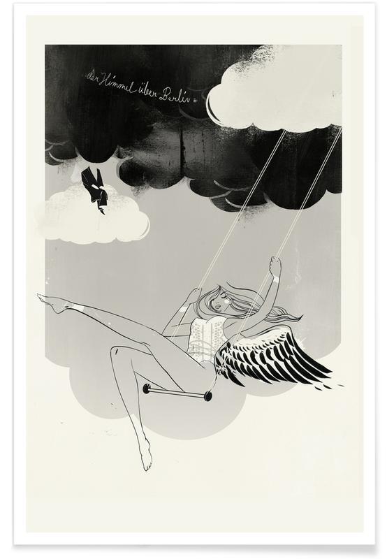 Black & White, Berlin Himmel Poster