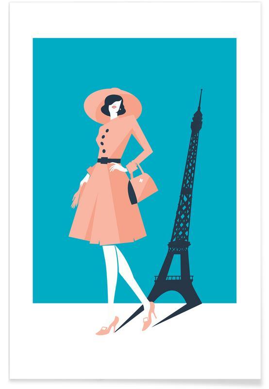 Fashion Illustrations, Paris Poster