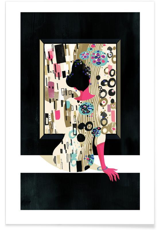 Retro, Klimt Poster