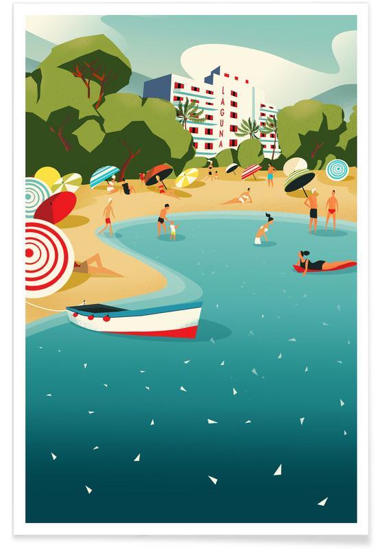 Beaches, Travel, Mediterranean Poster