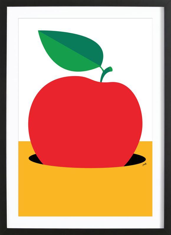 Apple 2 -Bild mit Holzrahmen