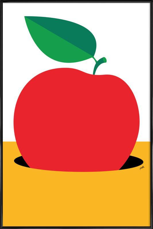 Apple 2 -Bild mit Kunststoffrahmen