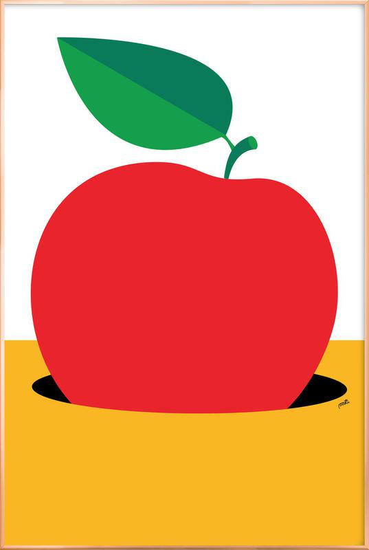 Apple 2 -Poster im Alurahmen
