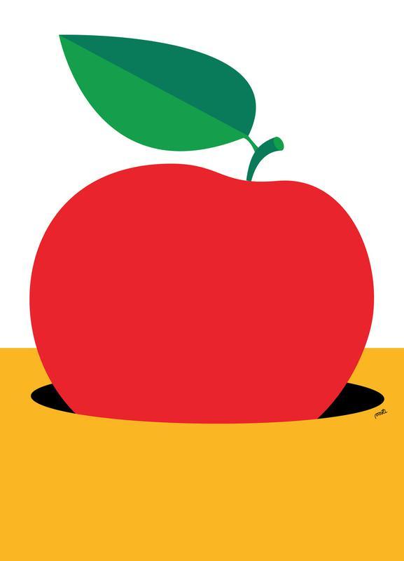 Apple 2 canvas doek